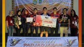 Atlet Bulutangkis Universitas Widyatama Berprestasi Juara 3 Pada 'Padjadjaran Badminton Championship (Pbc) 2018'