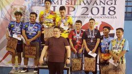 "Sugeng Dan Fauzi (Atlet Bulutangkis Universitas Widyatama) Juara 3 ""Piala Rektor Bumi Siliwangi Cup 2018 Tingkat Nasional"""